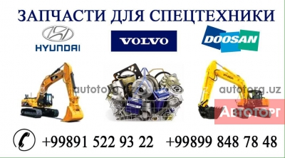 Запчасты для Экскаваторов из Кореи, Volvo,Doosan,Hyundai,Samsung в городе Ташкент