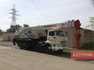 Спецтехника автокран ЧМЗ КС-55733 стрела 33м, грузоподъемность 32 тонны 2017 года за 129 600 $ в городе Ташкент